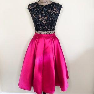 JOVANI - Exclusive - Pink & Black 2-Piece - NWOT
